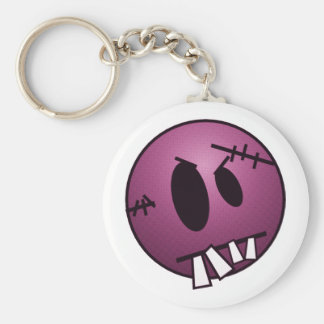 ZOMBIECON FACE - PINK BASIC ROUND BUTTON KEY RING