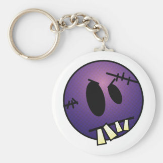 ZOMBIECON FACE - PURPLE BASIC ROUND BUTTON KEY RING