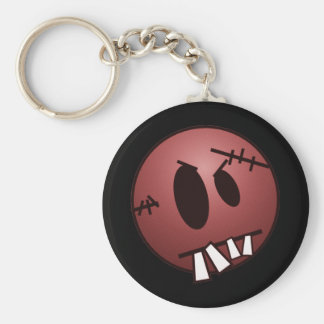 ZOMBIECON FACE - RED BASIC ROUND BUTTON KEY RING