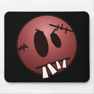 ZOMBIECON FACE - RED MOUSE PAD