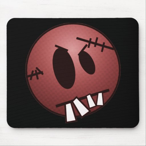 ZOMBIECON FACE - RED MOUSE PADS