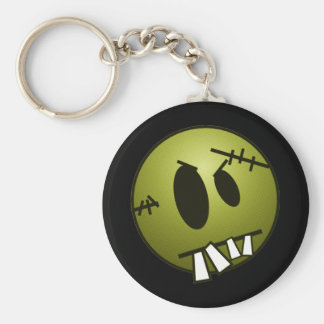 ZOMBIECON FACE - YELLOW BASIC ROUND BUTTON KEY RING