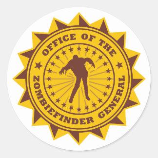 Zombiefinder General Round Sticker