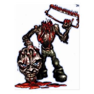 zombieheadless postcard