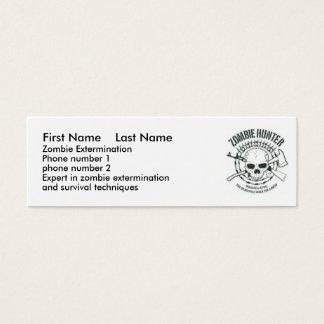 zombiehunter, First Name    Last Name, Zombie E... Mini Business Card
