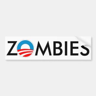ZOMBIES 4 Obama Slime Bumper Sticker
