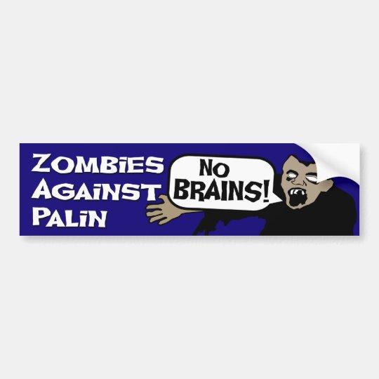Zombies Against Palin Bumper Sticker