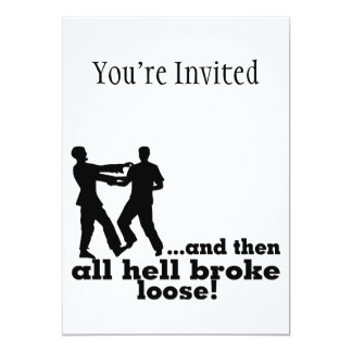 Zombies All Hell Broke Loose 13 Cm X 18 Cm Invitation Card