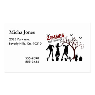 Zombies Are Coming Pack Of Standard Business Cards