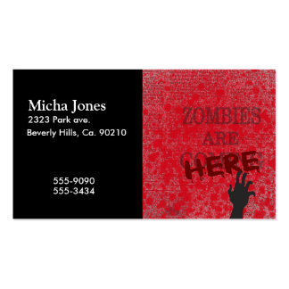 Zombies Are Here Blood Splattered Newspaper Double-Sided Standard Business Cards (Pack Of 100)