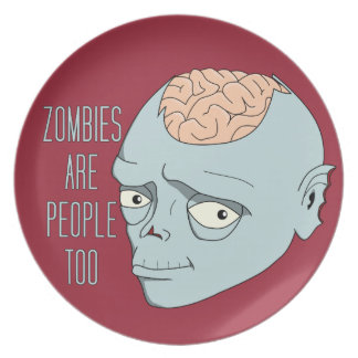 Zombies Are People Too Plate