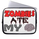 Zombies Ate My Brain Computer Sleeve