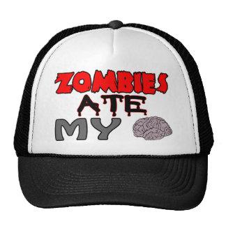 Zombies Ate My Brain Mesh Hats