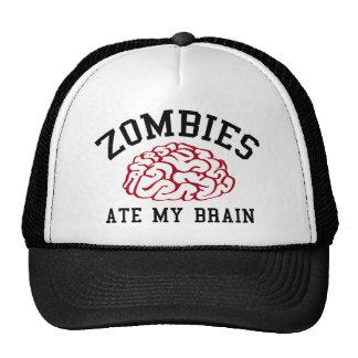 Zombies Ate My Brain Trucker Hat