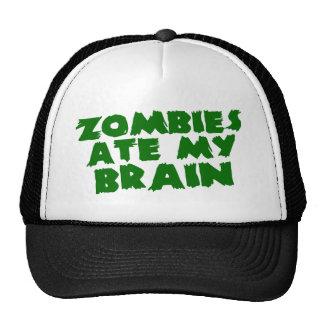 Zombies Ate My Brain Mesh Hat