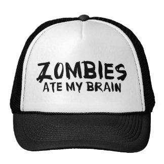 Zombies Ate My Brain Hats
