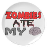 Zombies Ate My Brain Plates