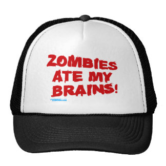 Zombies Ate My Brains Hats