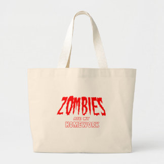 Zombies Ate My Homework Tote Bags