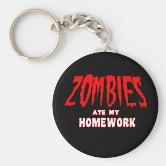 Zombies Ate My Homework Key Ring