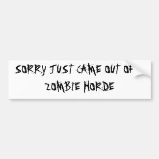 Zombies! Bumper Sticker