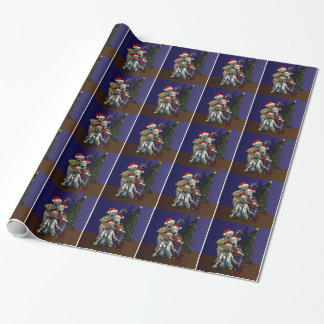 Zombies by the Christmas Tree Wrapping Paper