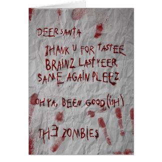 zombies christmas wish greeting card
