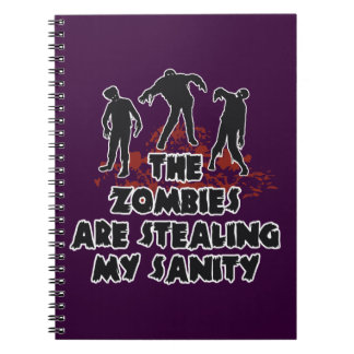 Zombies custom color notebook