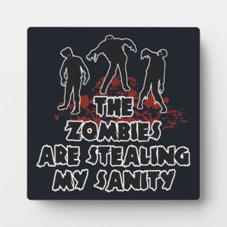 Zombies custom color plaque