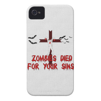 Zombies Died For Your Sins Blackberry Cases