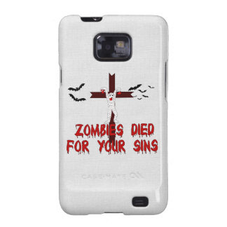 Zombies Died For Your Sins Samsung Galaxy SII Case