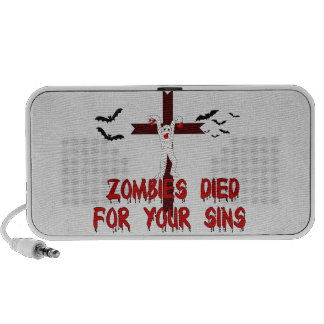 Zombies Died For Your Sins iPod Speakers