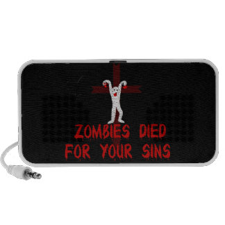 Zombies Died For Your Sins Notebook Speaker