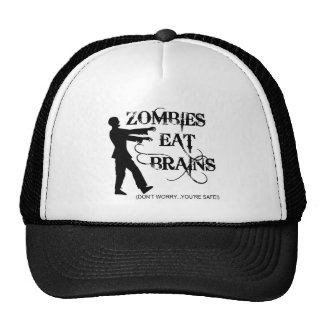 Zombies Eat Brains...Don't Worry, You're Safe! Cap