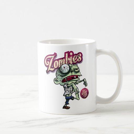 Zombies eat Brains Coffee Mug