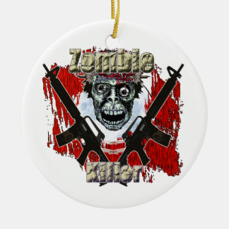 Zombies eat lead round ceramic decoration
