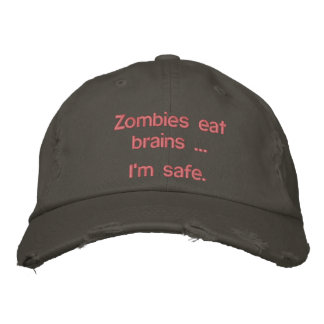 Zombies Embroidered Hat