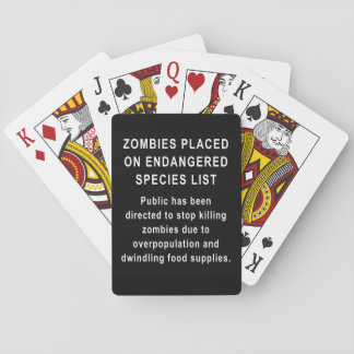 Zombies Endangered Species Playing Cards