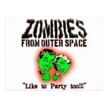Zombies From Outer Space! Postcards