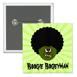 Zombies Go Boogie at the Disco on Halloween Pinback Buttons