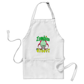 Zombies Groovy 70s 1 Standard Apron