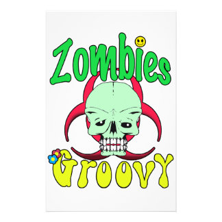 Zombies Groovy 70s 1 Stationery