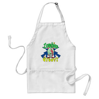 Zombies Groovy 70s Standard Apron