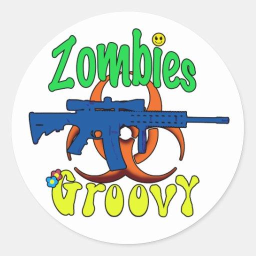 Zombies Groovy Sticker