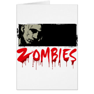 Zombies, Happy Haloween Greeting Card
