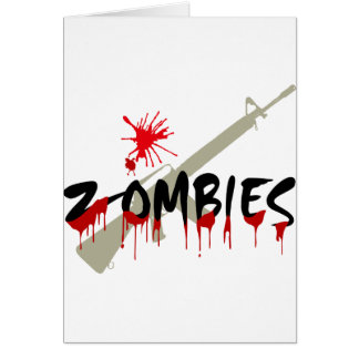 Zombies Happy Haloween Card