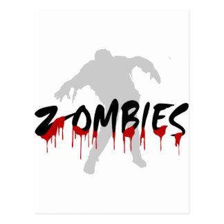 Zombies, Happy Haloween Postcard