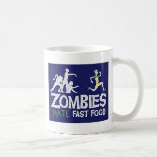 Zombies HATE Fast Food Basic White Mug