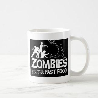 Zombies-Hate-Fast-Food-Black Mug