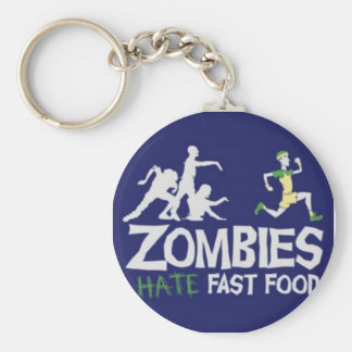 Zombies Hate Fast Food Key Ring
